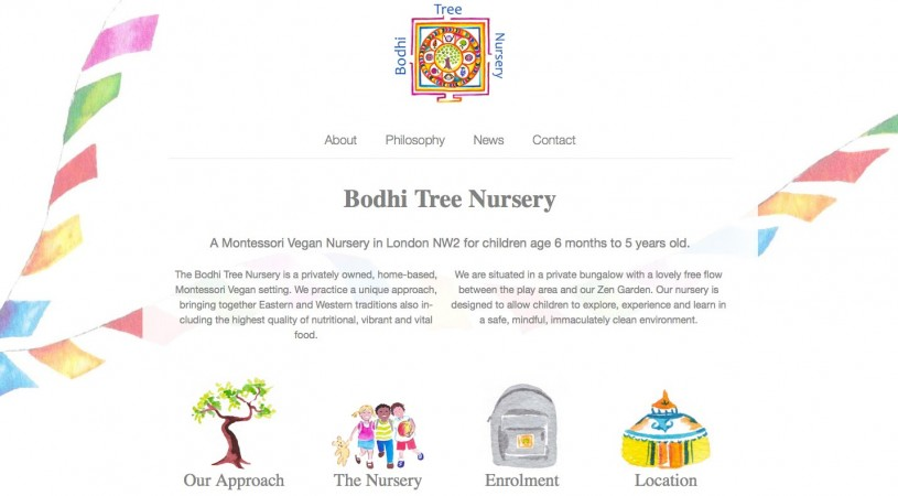 Website Design Project for Bodhi Tree Nursery