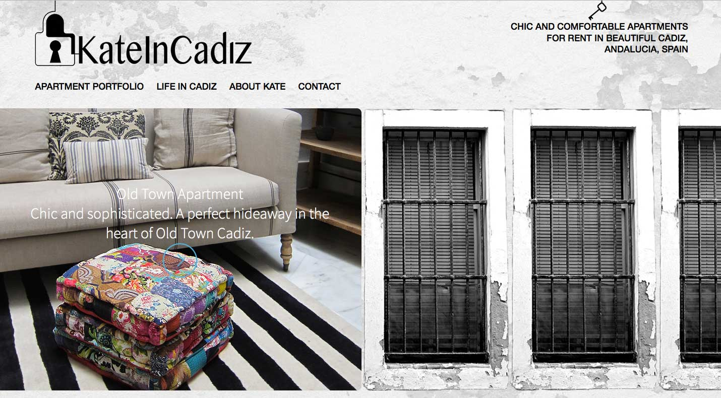 Website Design Project for Kate In Cadiz