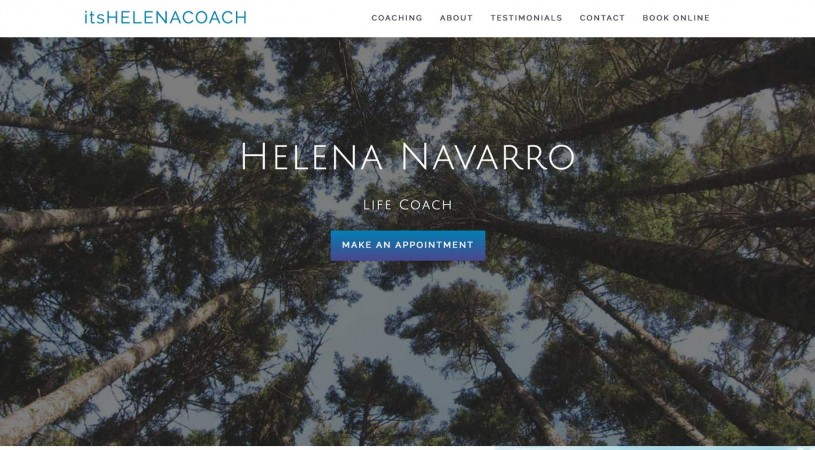 Website Design Project for It's Helena Coach
