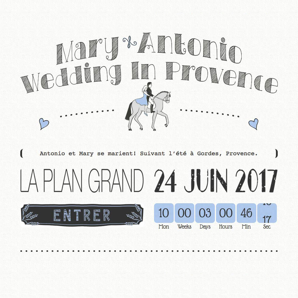 Website design project for weddinginprovence.net