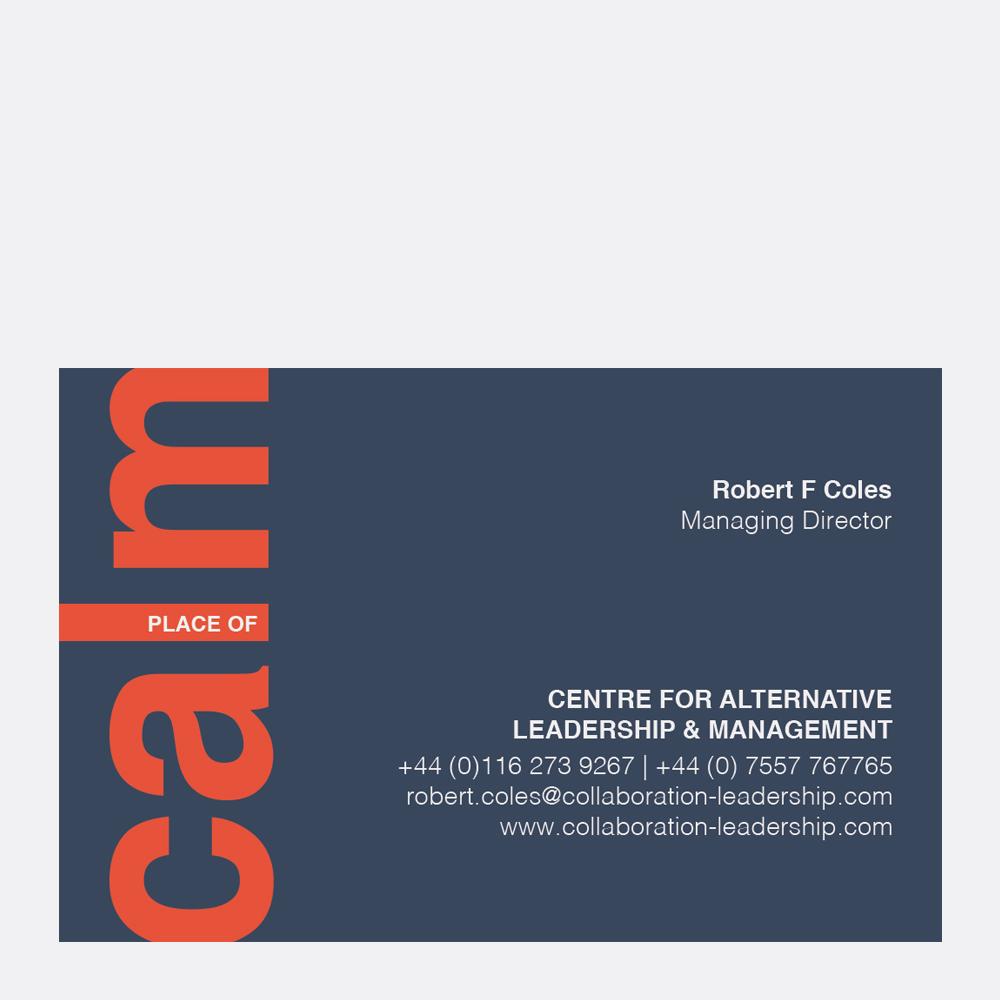 CALM collaboration leadership business card