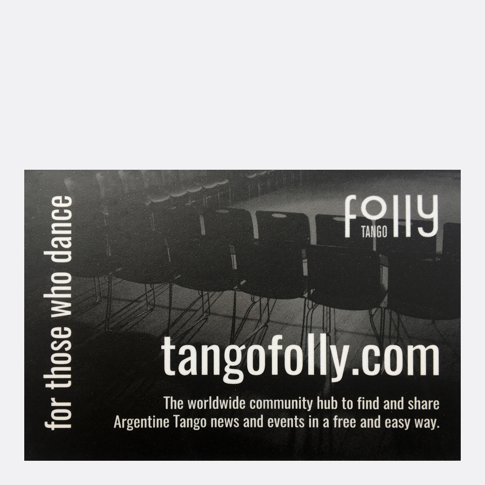 Flyer for Tangofolly